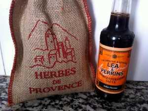 hierbas provenzales y salsa worcester