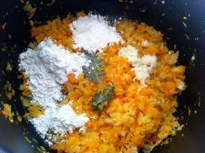 verduras listas con harina