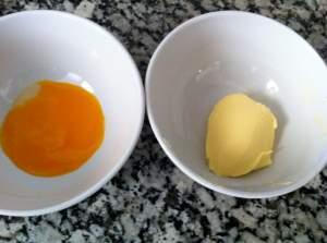 yema huevo y mantequilla
