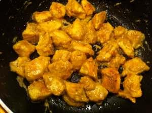pollo con salsa de mostaza