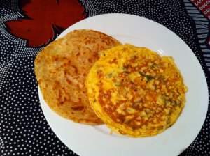 tortilla asiática con paratha