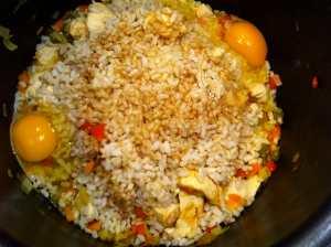 arroz y huevos