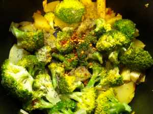con brócoli y especias