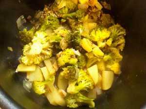 verduras escurridas
