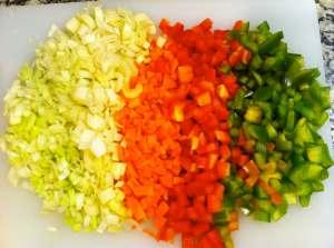 verduras picaditas