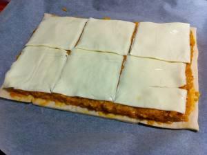 capa de queso en lonchas