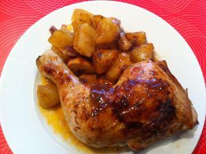 pollo a la coca cola con salsa