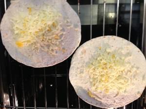 tortillas con queso a gratinar