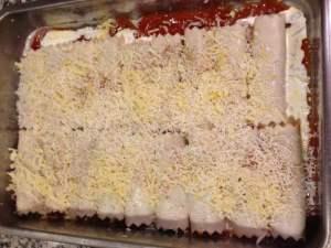 canelones con nata, gruyere y parmesano