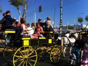 coche caballos y bombo flamenco