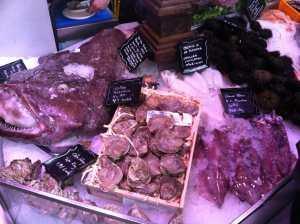 Pescado y mariscos Mercado San Miguel