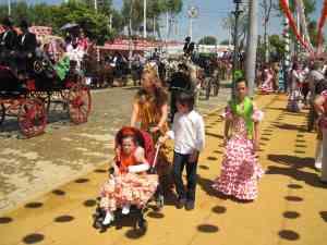 toda la familia de flamenca