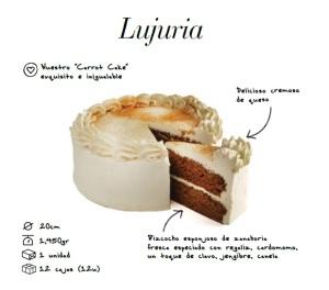 Lujuria tarta bizcocho