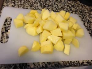 patatas a cubos