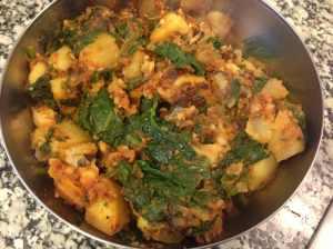 patatas con espinacas