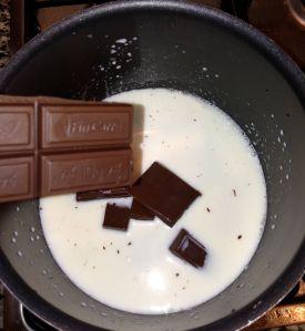 derritiendo el chocolate