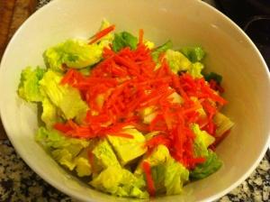 ensalada con zanahorias