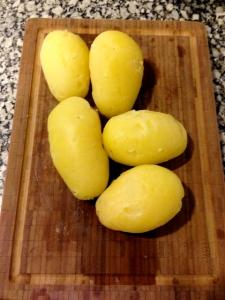 patatas cocidas peladas
