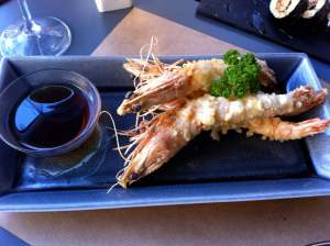 tempura de langostinos black tiger