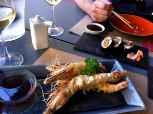 tempura de langostinos gigantes