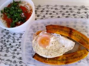 arroz a la cubana para llevar
