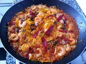 arroz marinero listo