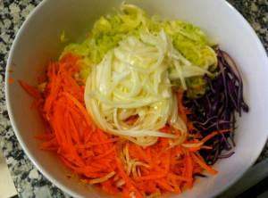 ensalada de col sin aliñar