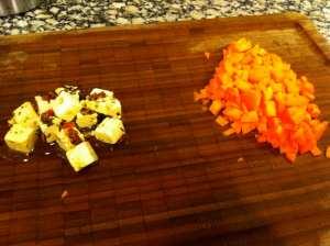 zanahoria y feta aliñado