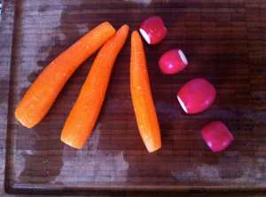 zanahorias y rabanos