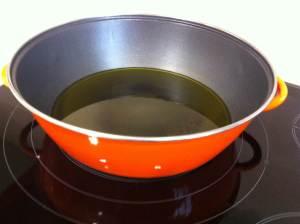 cazuela con aceite