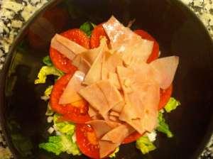 ensalada mixta con jamon cocido