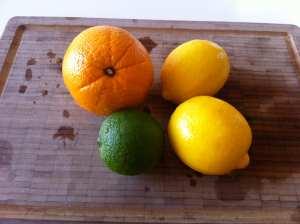 limones lima y naranja