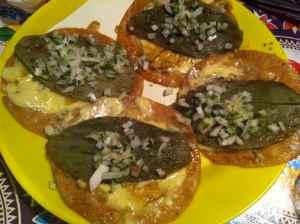 taco de nopal asado y queso