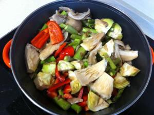 verduras a la cazuela