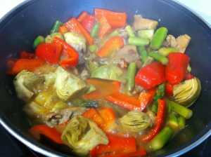 verduras casi listas