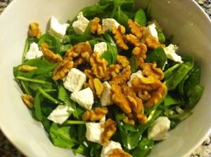 espinacas queso y nueces