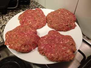 hamburguesas crudas