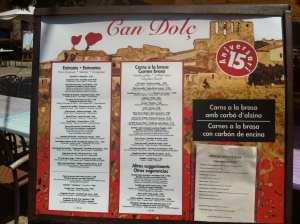 menu can dolc