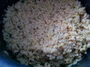 risotto de arroz integral