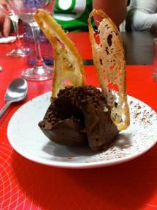 cremoso de chocolate explosivo