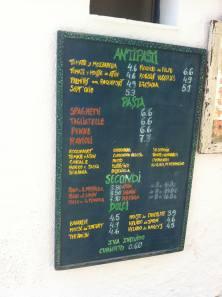 menu celeste