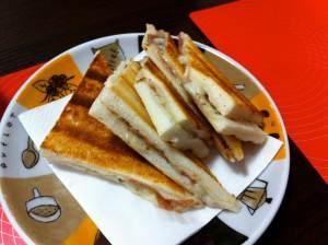 sandwhich de mozzarella trufa y paletilla