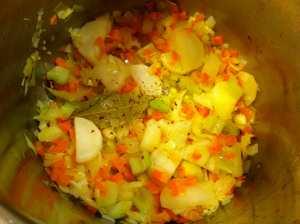verduras con azafran