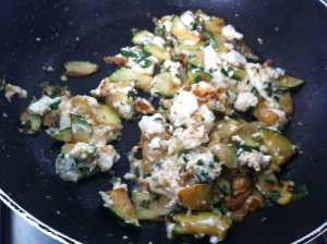calabacin y queso