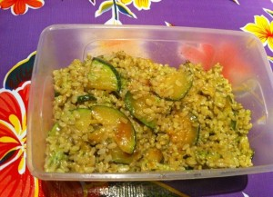 arroz verde con calabacin