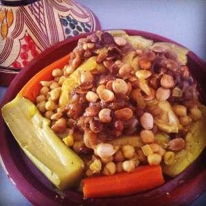 cuscus con pollo y verdura