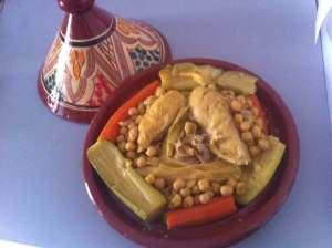 cuscus garbanzos verdura