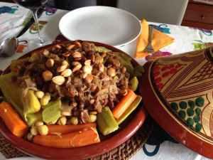 cuscus pollo y verdura