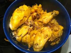 pollo cocido