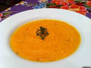 crema de zanahoria y gengibre
